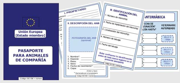 Pasaporte para Animales de Compañia Unión Europea